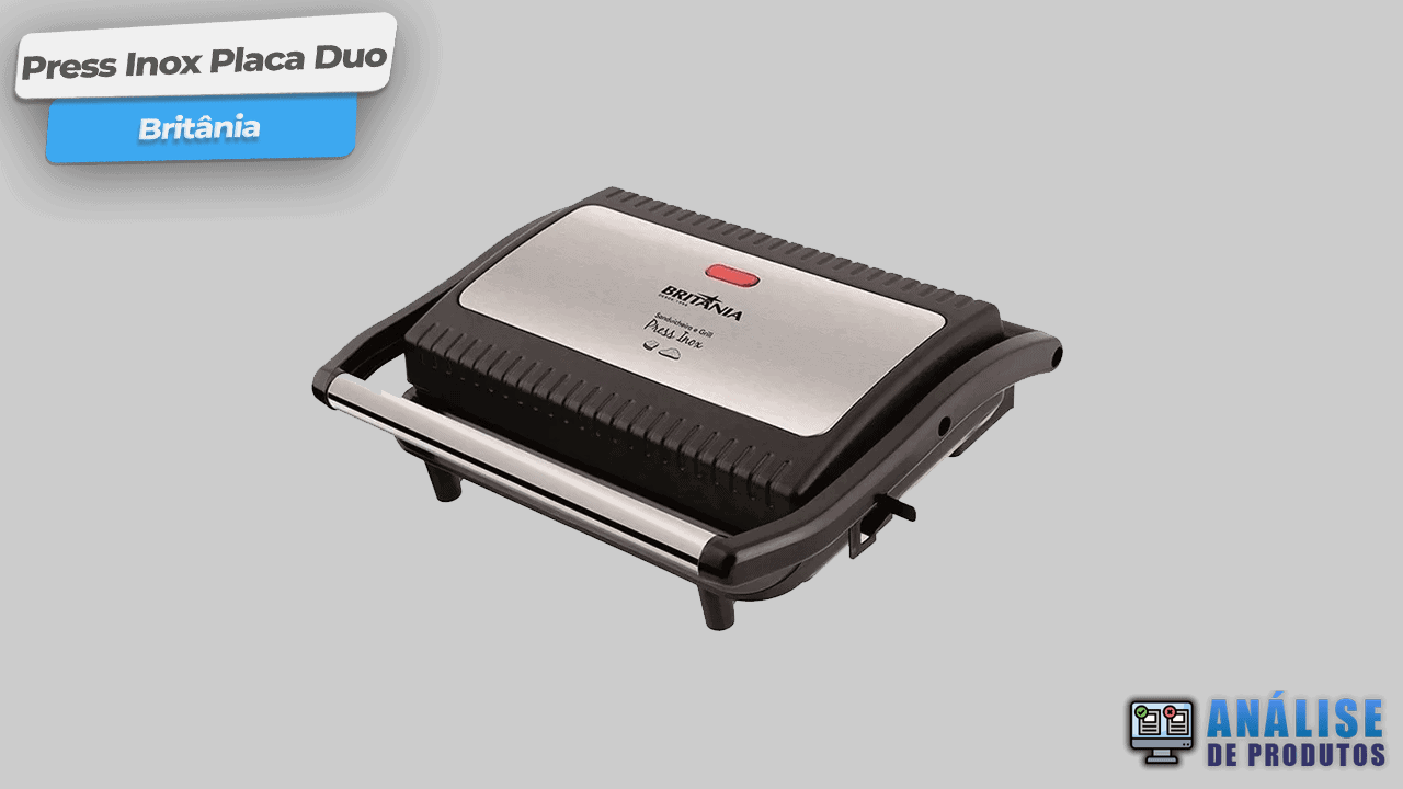 Sanduicheira Grill Britânia Press Inox Placa Duo-min